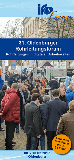 Flyer 31. Rohr­leitungs­forum 2017