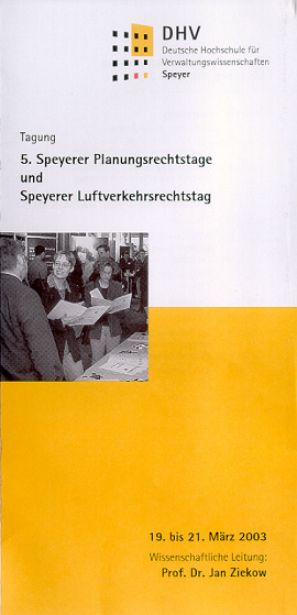 5. Speyerer Planungs­rechts­tage 2003