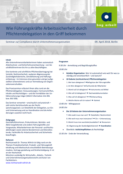 Flyer Arbeitssicherheit bag 2018