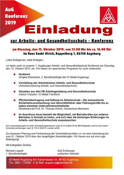 Flyer AuG Konferenz IGM 2019