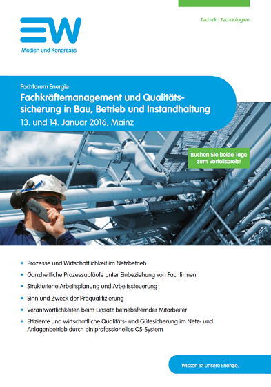 Flyer Fach­forum Energie EW 2016