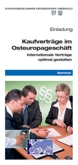 Flyer Inter­nationale Vertrags­gestaltung 2006