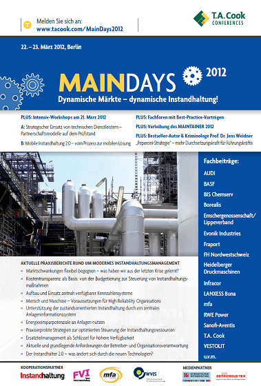 Flyer MainDays 2012